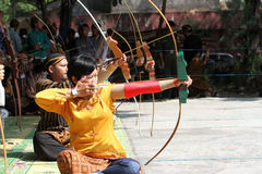 Traditional archery Stock Images