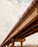 A traditional architectural bridge. Beautiful photo of a traditional highway bridge unique royalty free image stock image