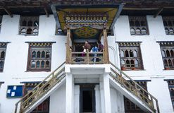 The traditional architectural design of Bhutan stock photography