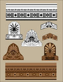 Traditional architectural elements set Stock Photography