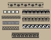 Traditional architectural ornament set Stock Image