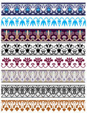 Traditional architectural ornament and stencil set Royalty Free Stock Images