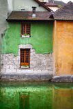 Traditional architecture of Annesy, France. On the photo: Traditional architecture of Annesy, France Stock Image