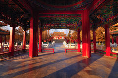 Traditional Architecture -The Beihai Pavilions. Beihai (North Sea) Park is one of the most popular parks in the city of Beijing. To the southwest of the lake Stock Photos