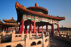 Traditional Architecture -The Beihai Pavilions Stock Photo