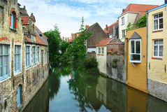 Traditional architecture of Brugge. Royalty Free Stock Images