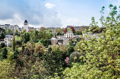 Traditional architecture buildings in Luxembourg, Europe Stock Photos