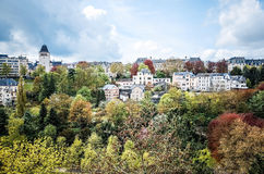 Traditional architecture buildings in Luxembourg, Europe Royalty Free Stock Image