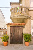 Traditional architecture in the Bulgarian city of Pomorie Royalty Free Stock Photos