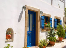 Traditional architecture of Chora village on Kythera island, Gre Royalty Free Stock Photo