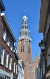 Traditional architecture of city in Netherlands, Middelburg Stock Photography