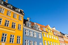 Traditional architecture in Copenhagen, Denmark. Royalty Free Stock Photo