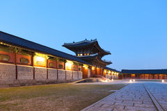 Traditional architecture of East-Asia: Kyeongbokkung Palace in Seoul, South Korea Royalty Free Stock Photography