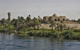 Traditional architecture in Egypt. Town located in the south of Egypt, between Nile riverside and Desert, building of  traditional architecture Stock Photos