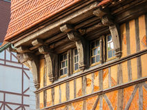 Traditional architecture of Etretat, Normandy, France Royalty Free Stock Photos
