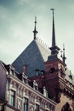 Traditional architecture in famous polish city, Torun, Poland. Stock Image