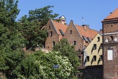 Traditional architecture in famous polish city, Torun, Poland. Stock Photo