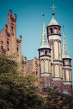 Traditional architecture in famous polish city, Torun, Poland. Royalty Free Stock Photography