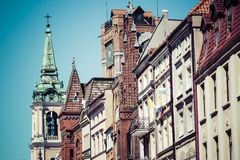 Traditional architecture in famous polish city, Torun, Poland. Stock Photos