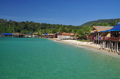 Traditional architecture, Koh Rong island, Cambodia Royalty Free Stock Images