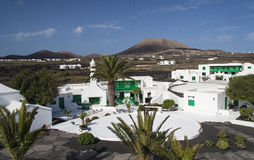 Traditional architecture in Lanzarote. Casa Museo del Campesino (peasant's house and museum), an old restored country house that reproduces the traditional rural Royalty Free Stock Photos