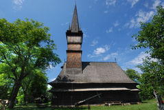 Traditional wooden church in Maramures, Romania Stock Photo