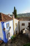 Traditional architecture in Medieval Portuguese Town of Obidos Stock Image