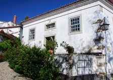 Traditional architecture in Medieval Portuguese Town of Obidos Royalty Free Stock Photography