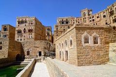 Mountain village Habbabah, Yemen stock photos