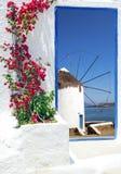 Traditional architecture on Mykonos island Stock Photo