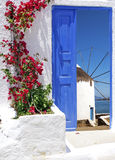 Traditional architecture on Mykonos island Stock Images