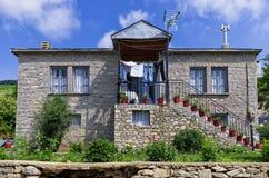 Traditional architecture in Nimfaio village, Florina, Greece Stock Photos