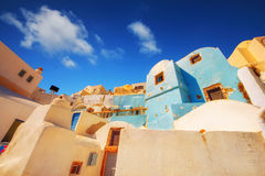 Traditional architecture in Oia village, Santorini Royalty Free Stock Photography
