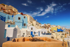 Traditional architecture in Oia village, Santorini Royalty Free Stock Image