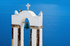 Traditional architecture of Oia village on Santorini island, Gre Royalty Free Stock Photos