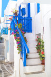 Traditional architecture of Oia village on Santorini island, Gre Royalty Free Stock Image