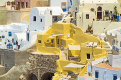 Traditional architecture of Oia village on Santorini island, Gre Stock Photography