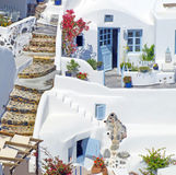 Traditional architecture of Oia village on Santorini island, Gre Stock Images