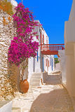 Traditional architecture of Oia village on Santorini island, Gre Stock Image