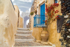 Traditional architecture of Oia village on Santorini island Royalty Free Stock Photography