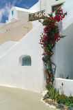 Traditional architecture of Oia village on Santorini island Stock Photo