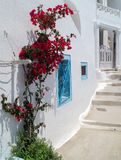 Traditional architecture of Oia village on Santorini island Royalty Free Stock Image