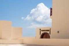 Traditional architecture of Oia village on Santorini island Royalty Free Stock Photo