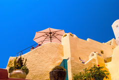 Traditional architecture of Oia village on Santorini island Royalty Free Stock Photos