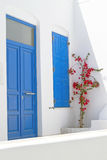 Traditional architecture of Oia village in Santorini island. Greece Royalty Free Stock Photo