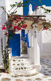Traditional architecture of Oia village in Santorini island Royalty Free Stock Image