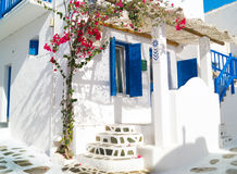 Traditional architecture of Oia village in Santorini island Royalty Free Stock Photos