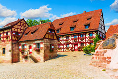 Traditional architecture in the Old Town in Nuremberg, Germany Royalty Free Stock Images