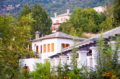 Traditional architecture on Pelion mountain , Greece Stock Images