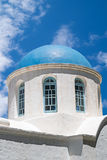 Traditional architecture on Santorini island Stock Photography